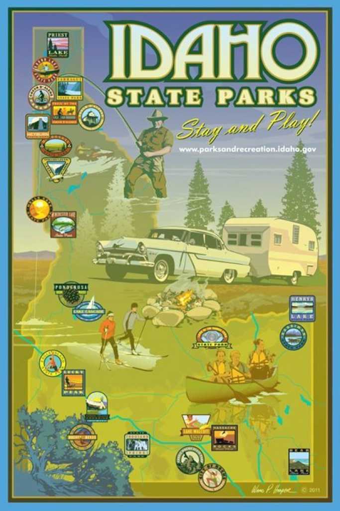 Pinvisit Idaho On Idaho State Parks & Byways | Pinterest | Idaho throughout Idaho State Parks Map