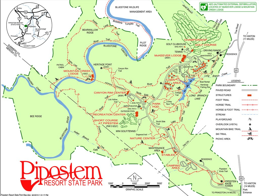 Pipestem Resort State Park - Maplets inside West Virginia State Parks Map