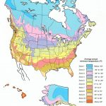 Plant Hardiness Zone Map For North America In Map Of Planting Zones In United States