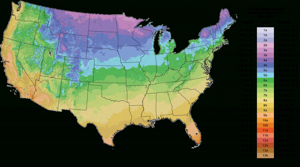 Plant Hardiness Zone Map | The Tree Center™ in Map Of Planting Zones In United States