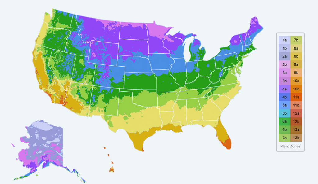 Planting Zones Map - Find Your Plant Hardiness Growing Zone with Map Of Planting Zones In United States