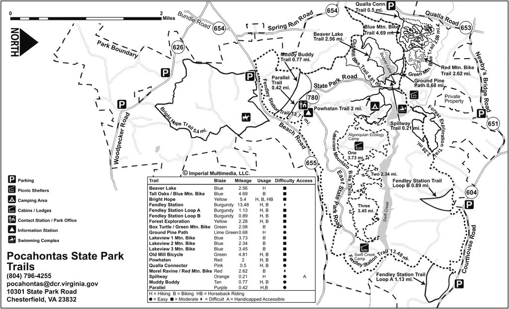 Pocahontas State Park - Find Your Chesapeake with regard to Pocahontas State Park Trail Map