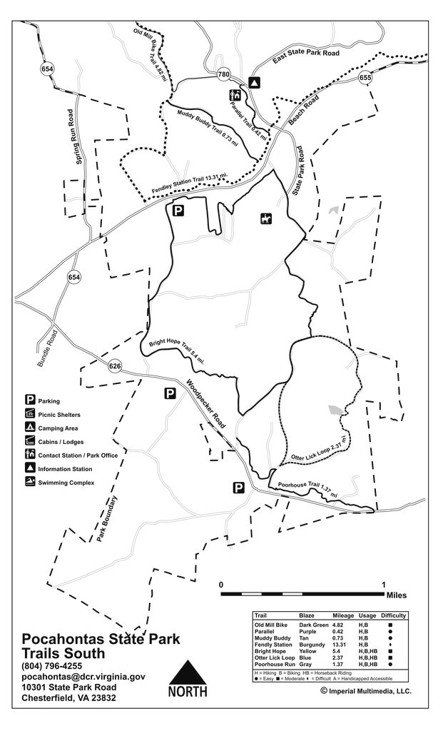 Pocahontas State Park - Maplets for Pocahontas State Park Trail Map
