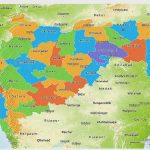 Political 3D Map Of Maharashtra, Physical Outside In Physical Map Of Maharashtra State