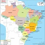 Political Map Of Brazil | Brazil States Map Inside Map Of Brazil States And Cities