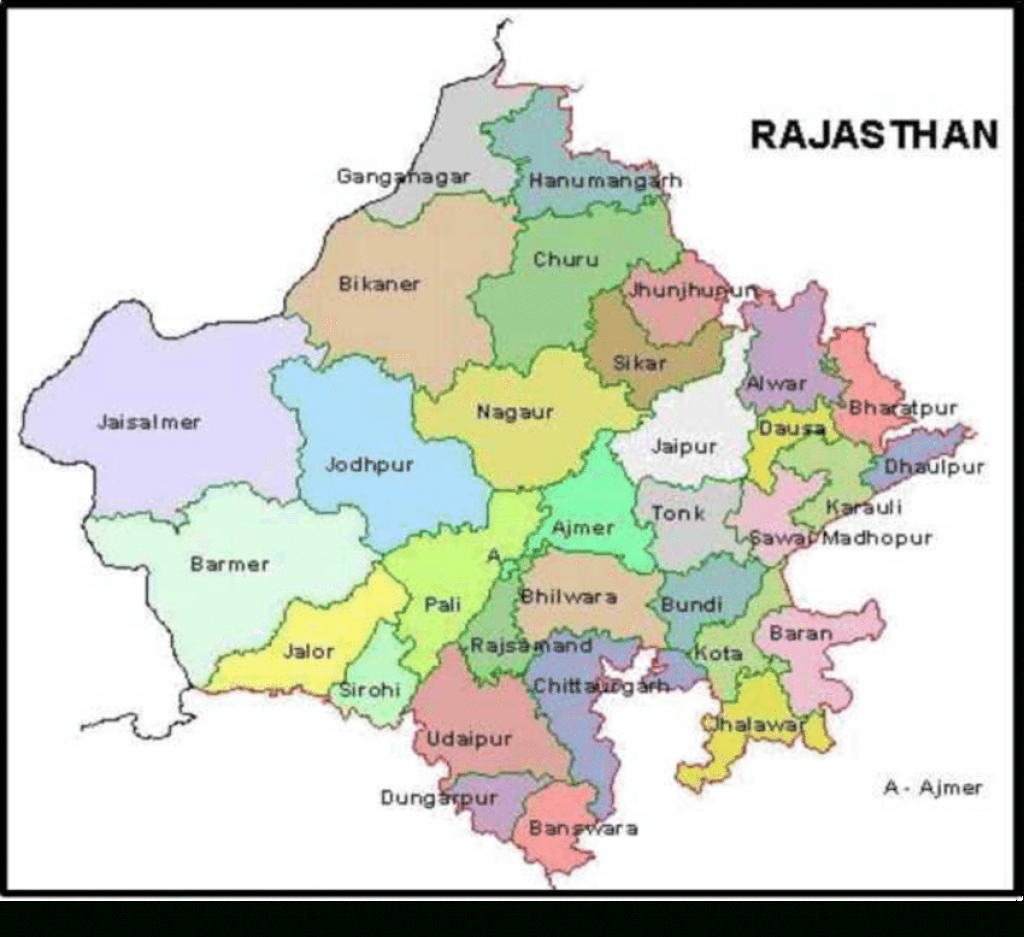 Political Map Of Rajasthan | Download Scientific Diagram for Political Map Of Rajasthan State