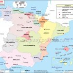 Political Map Of Spain | Spain Autonomous Communities Map Throughout Spain States Map