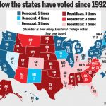Political Map Of Usa Red And Blue States State Vs Divide Wikipedia Regarding State Political Map