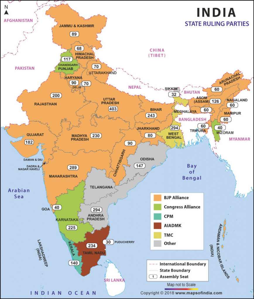Political Parties In States Of India, Current Ruling Parties for States Of India Map Game