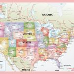 Political Vector Map United States In Of Usa With Cities Pdf Best Throughout Usa Map With States And Cities Pdf