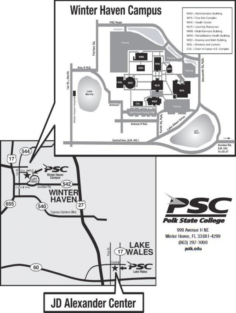Polk regarding Polk State College Winter Haven Campus Map
