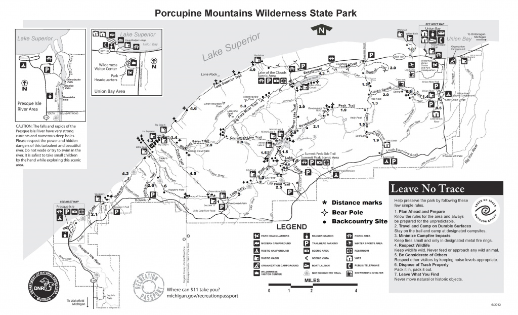Porcupine Mountains | Dirty Forest People in Map Of Porcupine Mountains State Park