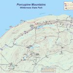 Porcupine Mountains Wilderness State Park Within Map Of Porcupine Mountains State Park