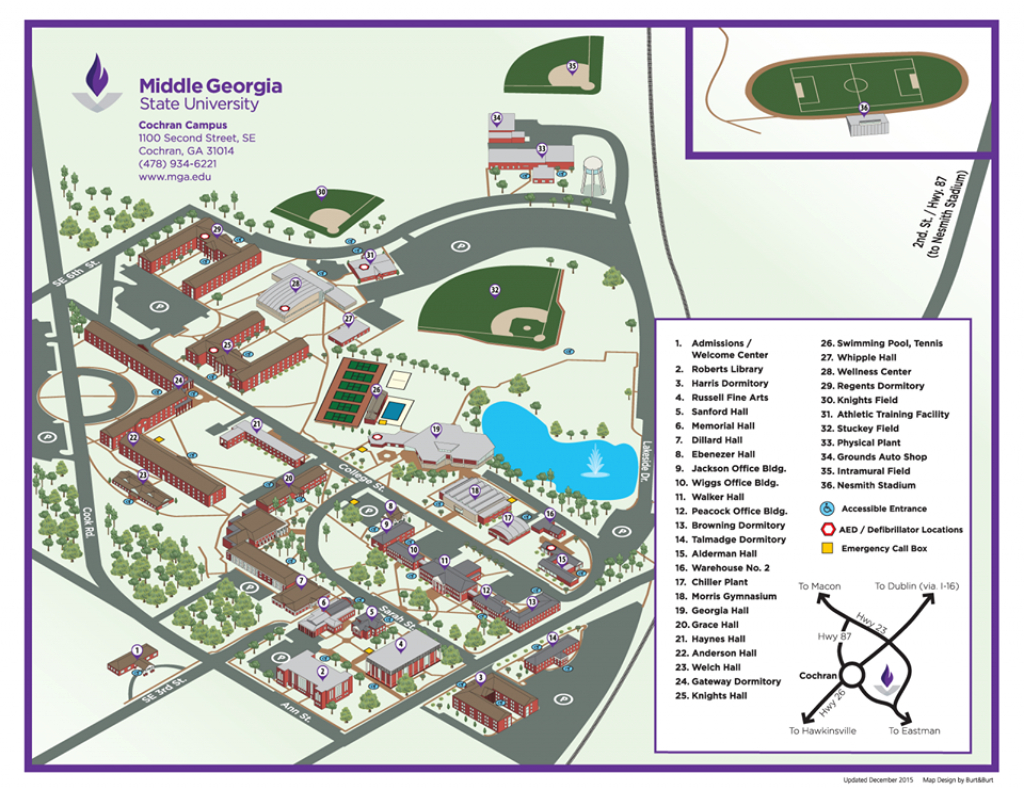 Portfolio — Your Town Map inside Middle Georgia State University Campus Map