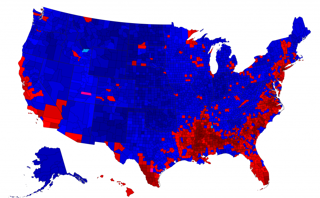 Post Random Us Election County Maps Here pertaining to Trump Support By State Map