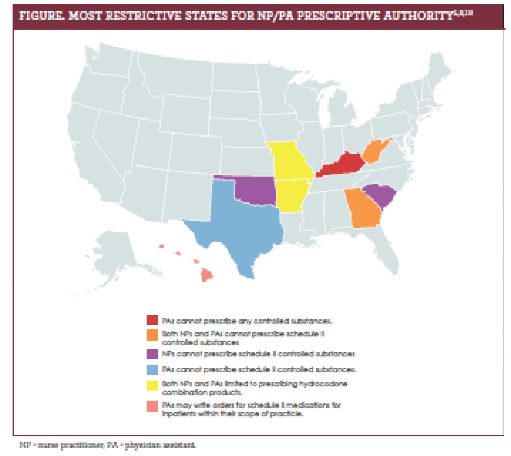 Prescriptive Authority Update 2017 with Nurse Practitioner Prescriptive Authority By State Map