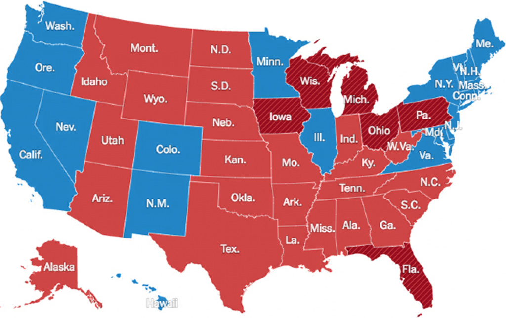 Presidential Election Results: Donald J. Trump Wins – Election with Map Of States Trump Won