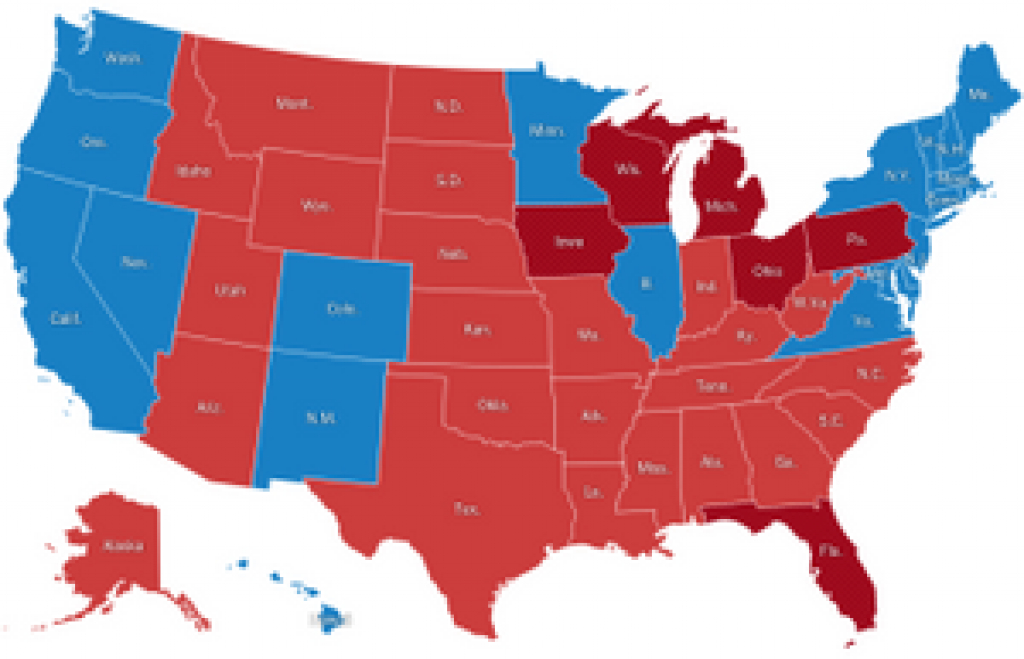 Presidential Election Results: Donald J. Trump Wins – Election with States Hillary Won Map