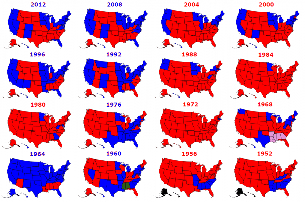 Presidential Elections Used To Be More Colorful - Metrocosm with regard to 1980 Presidential Election Results By State Map