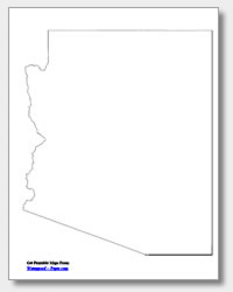Printable Arizona Maps | State Outline, County, Cities throughout Arizona State Map Outline