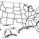 Printable Blank Map Of Us   Bino.9Terrains.co For Blank State Map