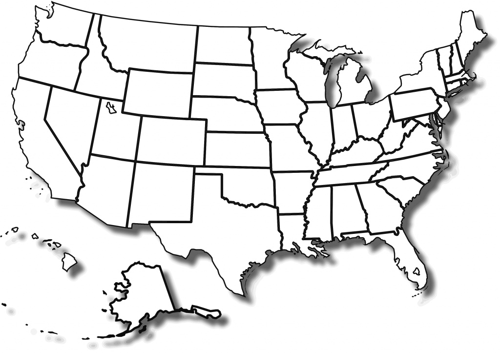 Printable Blank Map Of Us - Bino.9Terrains.co for Blank State Map