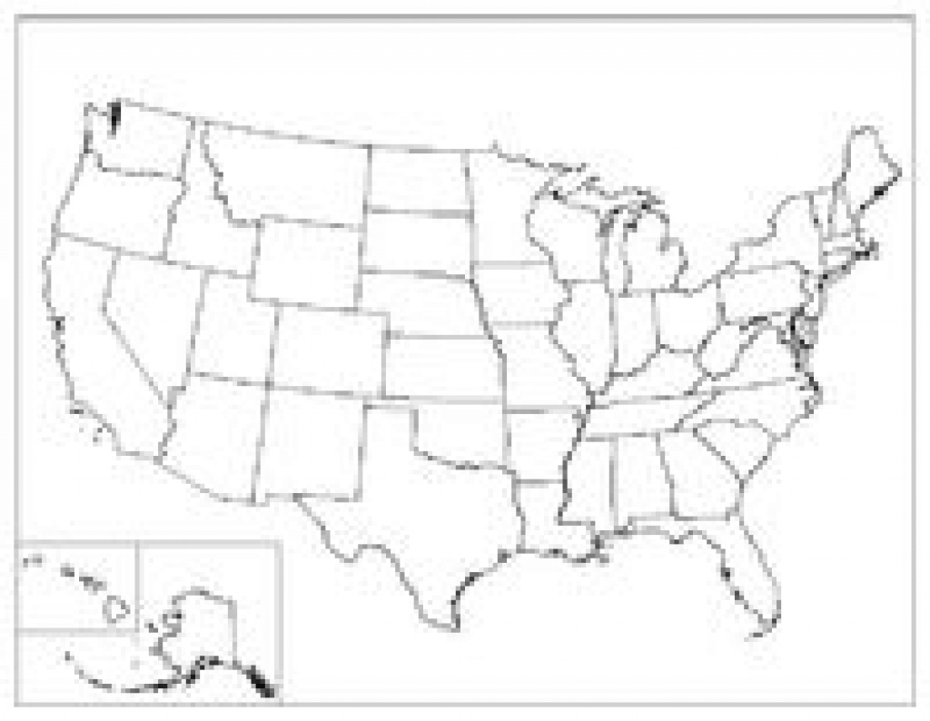 Printable Blank Map Of Us - Bino.9Terrains.co within Blank State Map