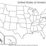 Printable Blank Us State Map A Blank Us Map Printable Refrence Blank Within Blank Us State Map