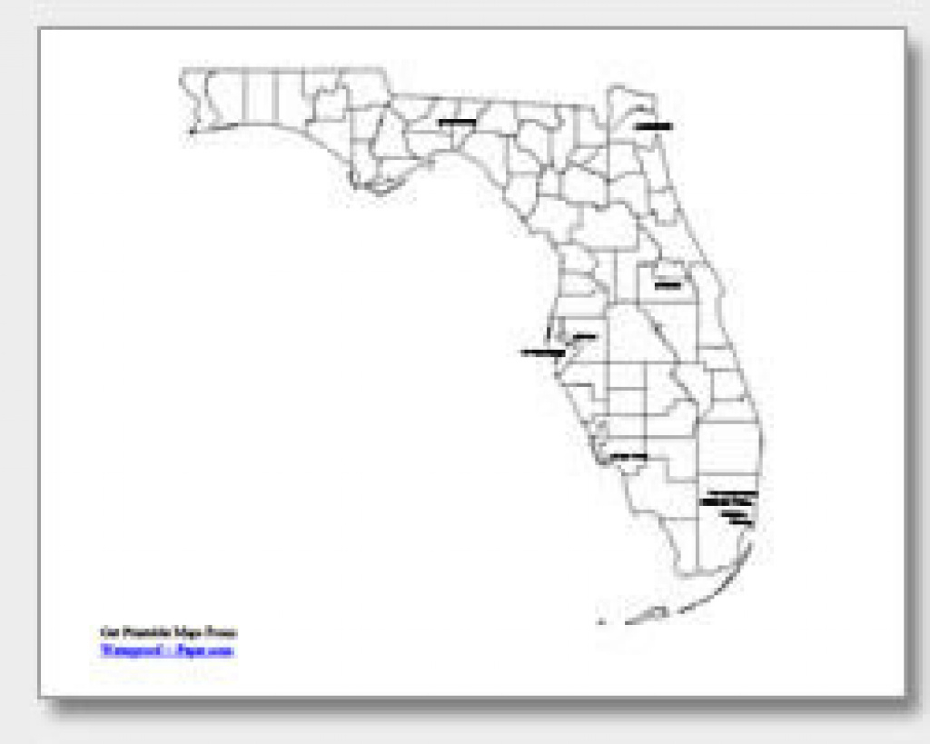 Printable Florida Maps | State Outline, County, Cities inside Florida State Map Printable