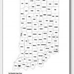 Printable Indiana Maps | State Outline, County, Cities Inside Indiana State Map Printable
