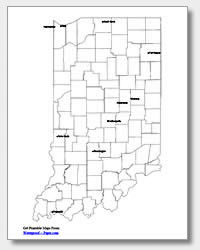 Printable Indiana Maps | State Outline, County, Cities with regard to Indiana State Map Printable