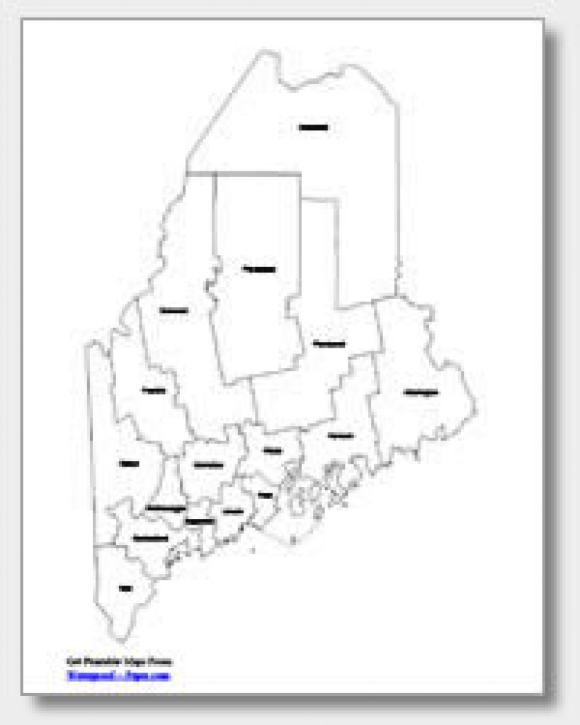 Printable Maine Maps | State Outline, County, Cities in Maine State Map Printable