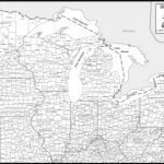 Printable Map Of Great Lakes And Travel Information | Download Free With Great Lakes States Outline Map