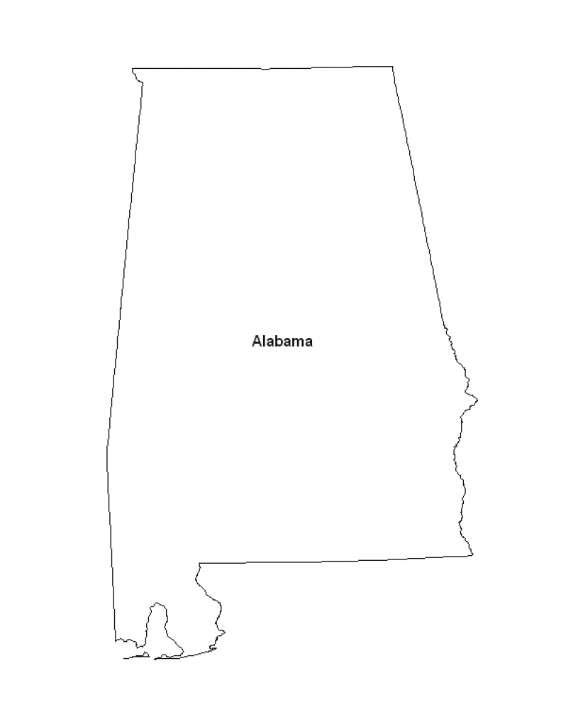 Printable Map Of The State Of Alabama - Eprintablecalendars in Alabama State Map Printable