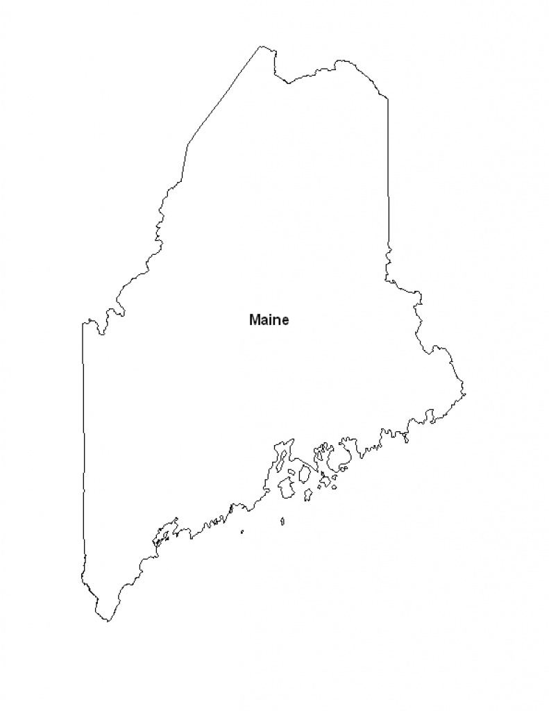 Printable Map Of The State Of Maine - Eprintablecalendars within Maine State Map Printable