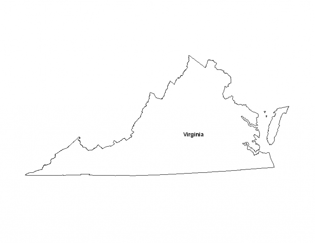 Printable Map Of The State Of Virginia - Eprintablecalendars in Virginia State Map Printable