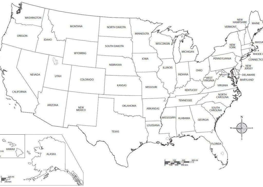 Printable Map Of The United States Of America With Names Beautiful Regarding Printable Map Of The United States With State Names