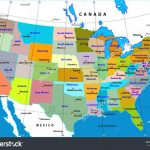 Printable. Map Of Us States With Capitols: United States Map Throughout Us Map States And Capitals List