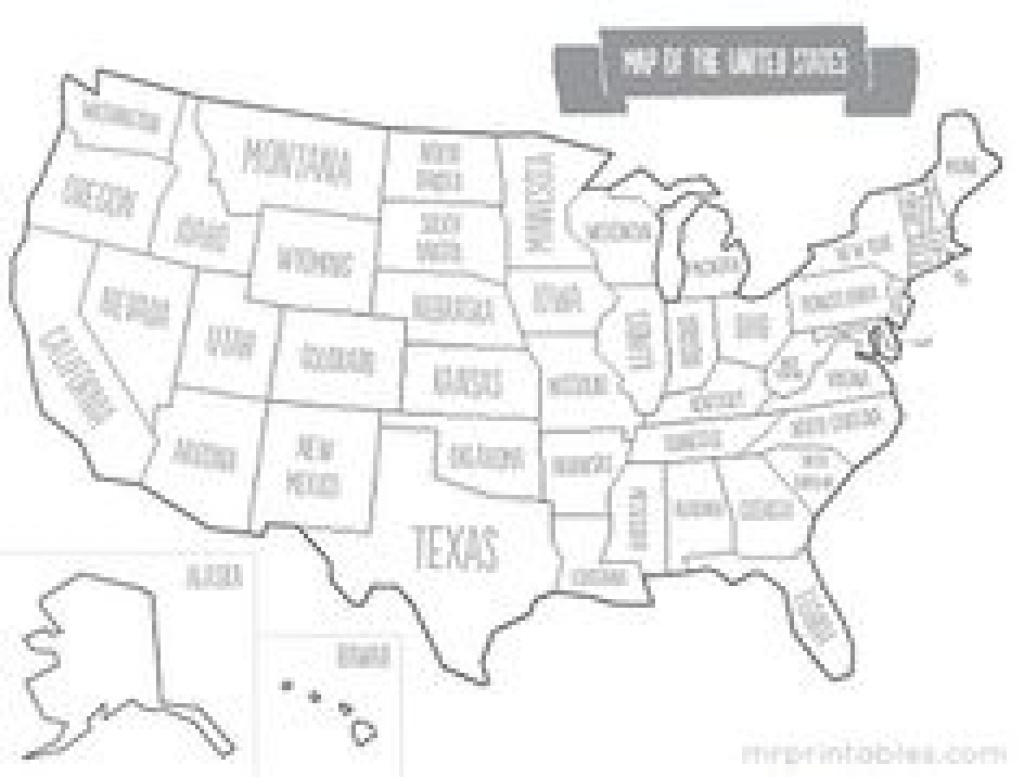 Printable Map Of Usa With States Names. Also Comes In Color, But intended for 50 States Map Worksheet