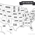 Printable Map Of Usa With States Names. Also Comes In Color, But With States I Ve Visited Map