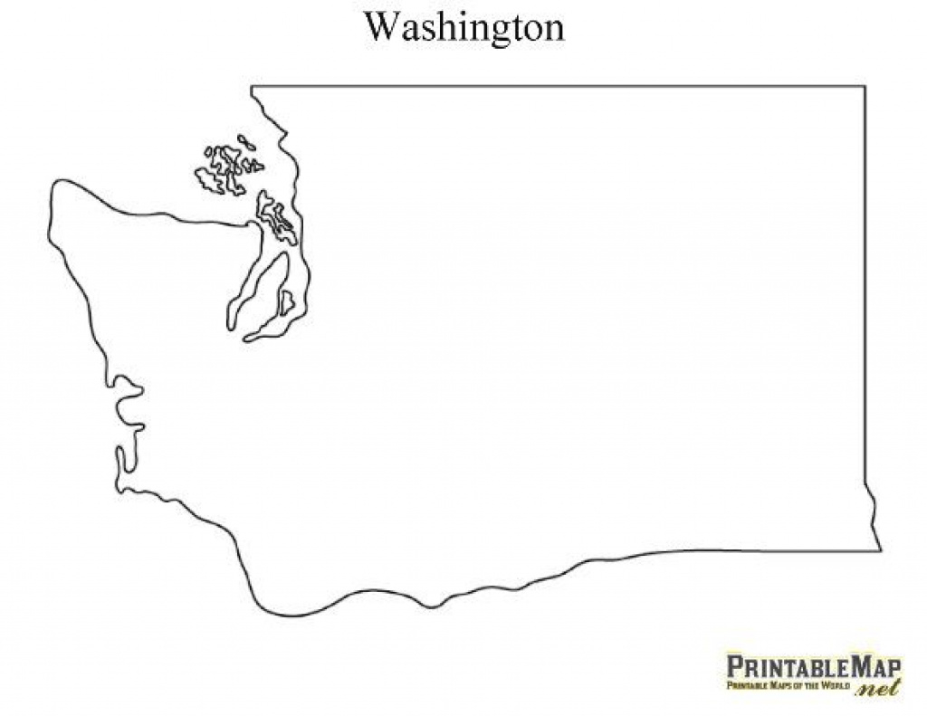 Printable Map Of Washington | Crafty Craft | Pinterest | Map, State in Washington State Map Outline