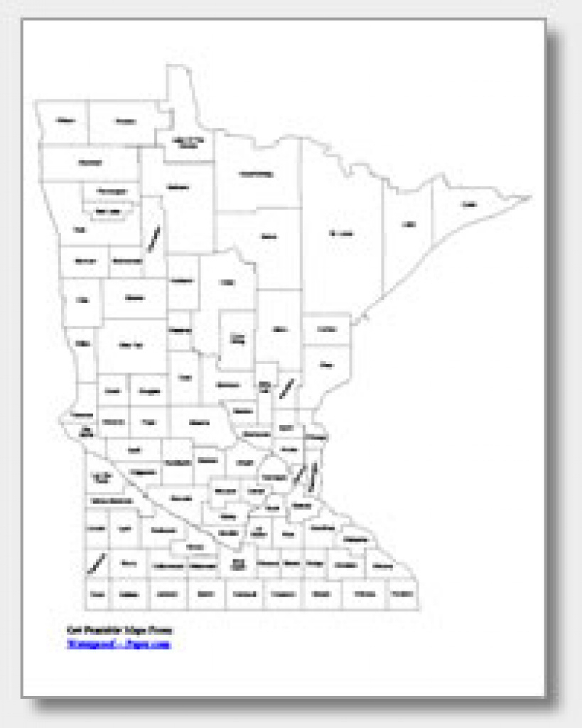 Printable Minnesota Maps   State Outline, County, Cities pertaining to Minnesota State Map With Counties