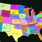 Printable U.s Map With State Names And Capitals Fresh United States Pertaining To Map Of United States With State Names And Capitals