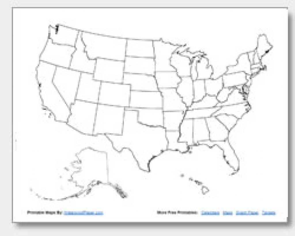 Printable United States Maps | Outline And Capitals for Blank State Map