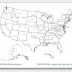 Printable United States Maps | Outline And Capitals In Blackline Maps Of The United States