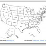 Printable United States Maps | Outline And Capitals In Us Map Without State Names