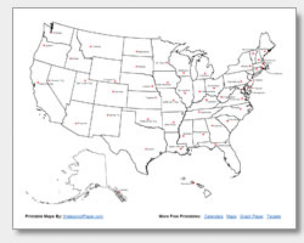 Printable United States Maps   Outline And Capitals inside Us Map With State Capitals