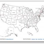 Printable United States Maps | Outline And Capitals Intended For A Labeled Map Of The United States