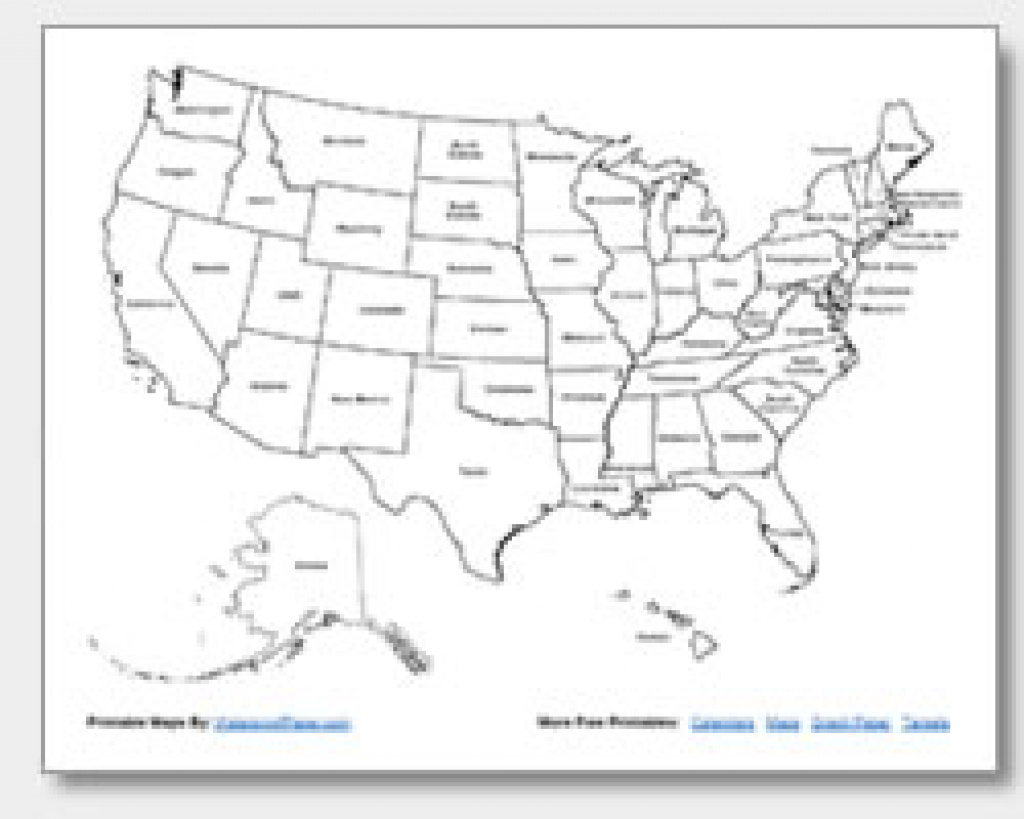 Printable United States Maps | Outline And Capitals regarding State Map Without Names