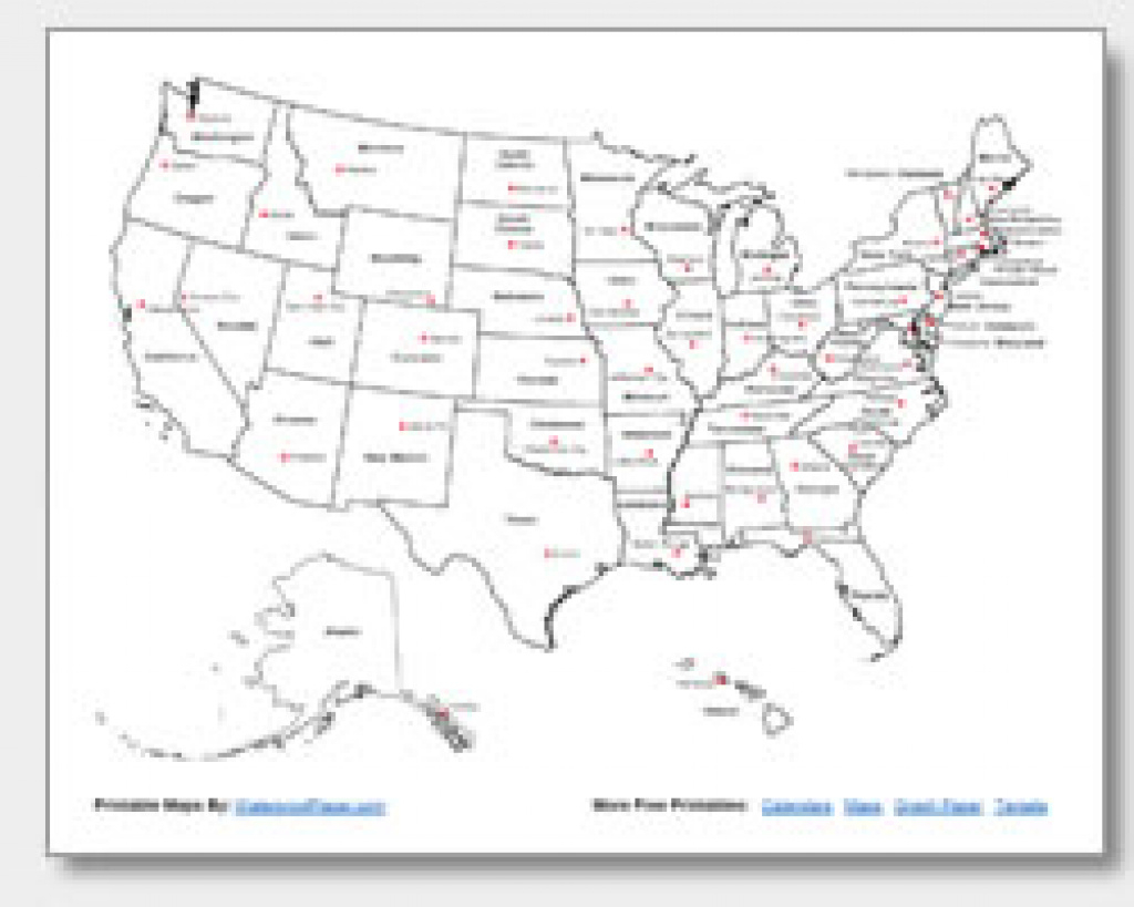 Printable United States Maps | Outline And Capitals throughout Us Map With States Labeled And Capitals